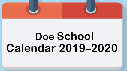 Doe CALENDAR 2019 / 2020