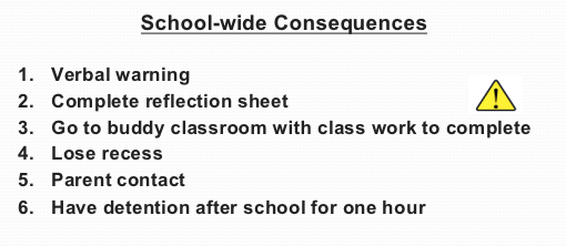 School-wide Consequences